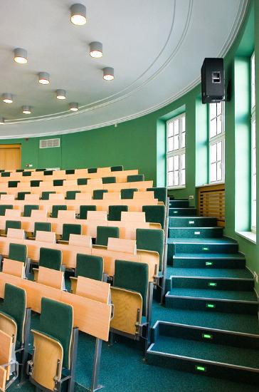 aula i schody, wykładzina interface, realizacja interbiuro