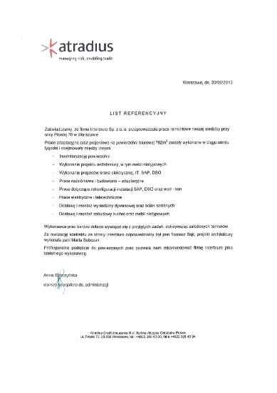 Referencje od Atradius Credit Insurance