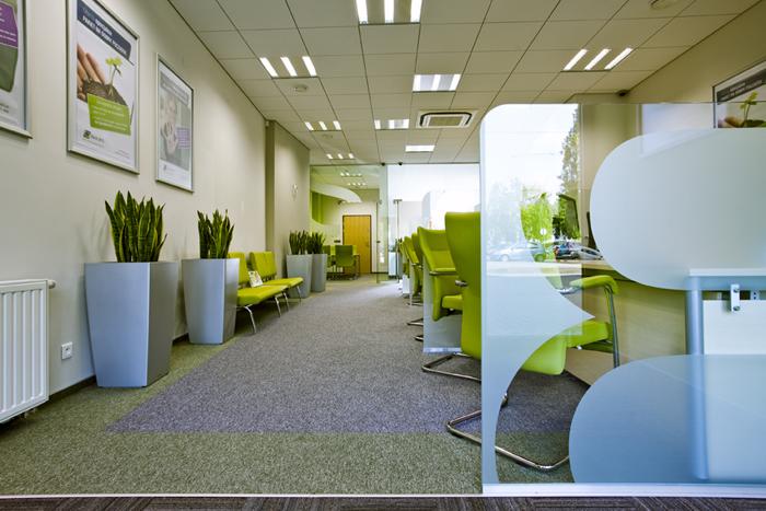 Bank Polskiej Spółdzielczości S.A., interbiuro, zielony fotel