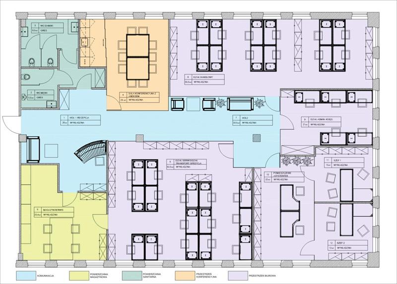 space plan przestrzeni biura