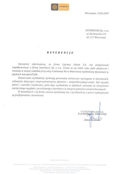 Referencje od Cyfrowy Polsat S.A.