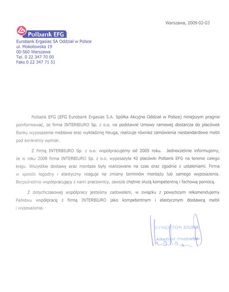 Referencje od Polbank EFG
