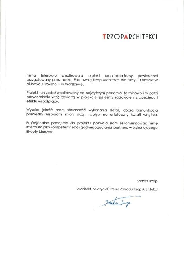 Referencje od Trzop Architekci