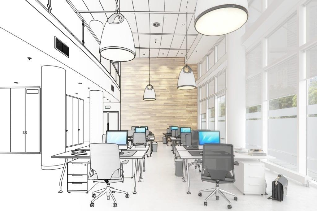projekt biuro 2 1024x682 - Fit out: zaplanować, zaprojektować, zrealizować