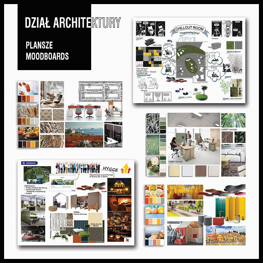 Architektura 01 MOODBOARDS copy - Designing offices and arrangement